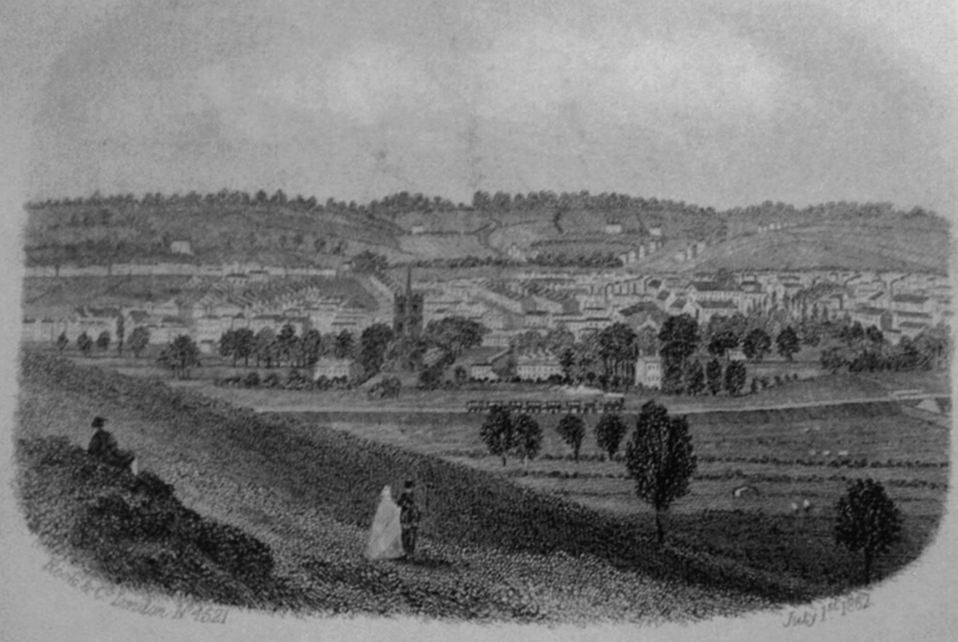 View from Hart Hill 1862
