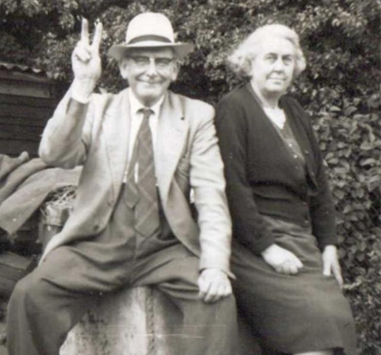 Walter Frederick Miller and second wife Laura