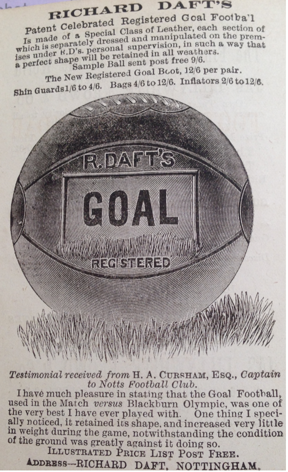Richard Daft's ball advert