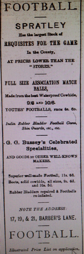 Spratley's advert