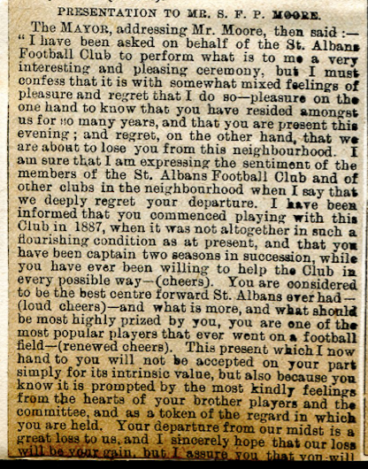St. Albans AGM 1894 SFP Moore