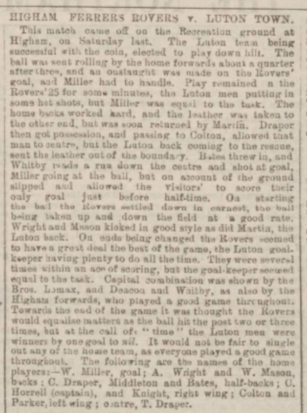 Northampton Mercury 27th February 1886