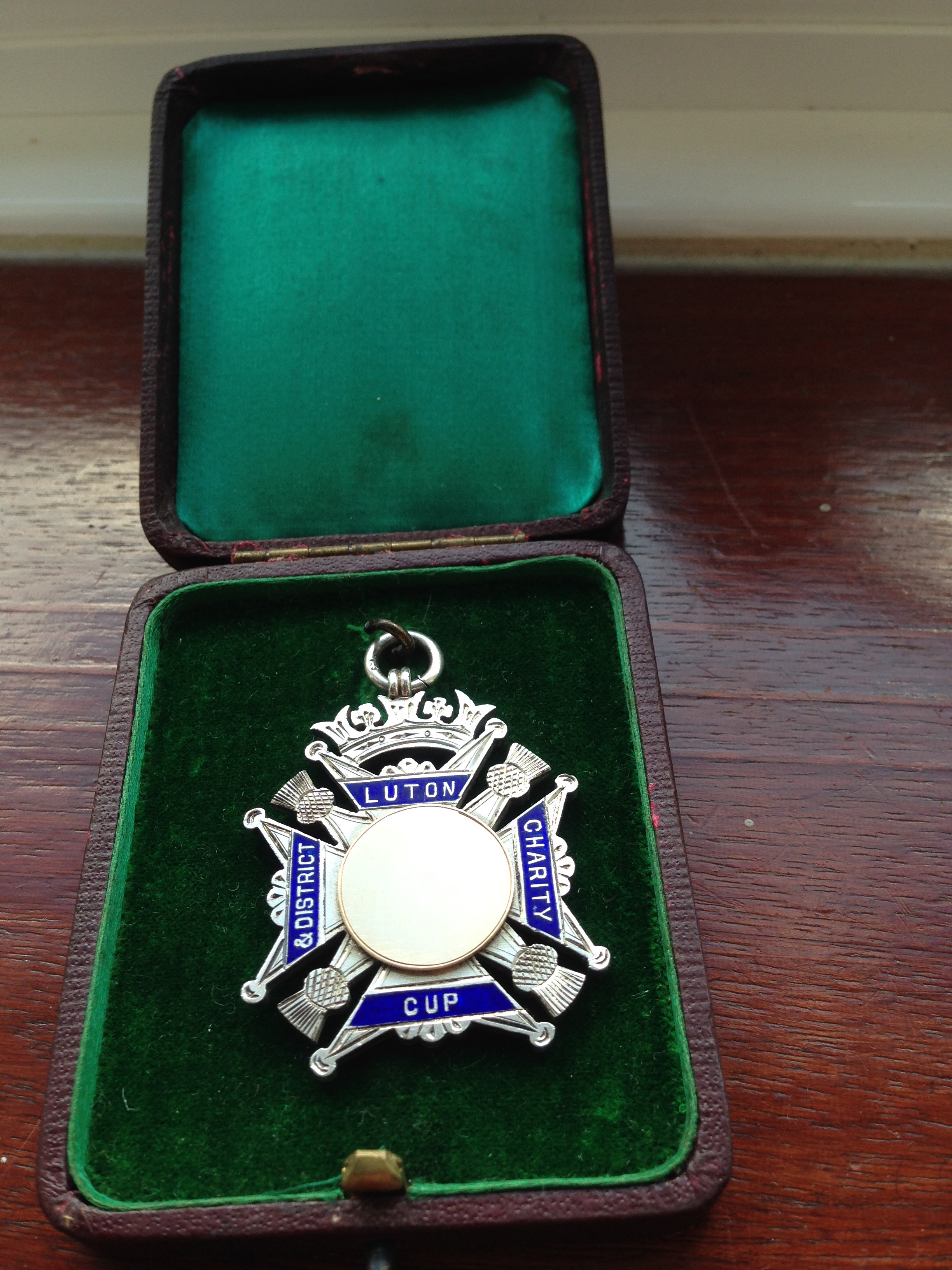 Luton Charity Cup medal