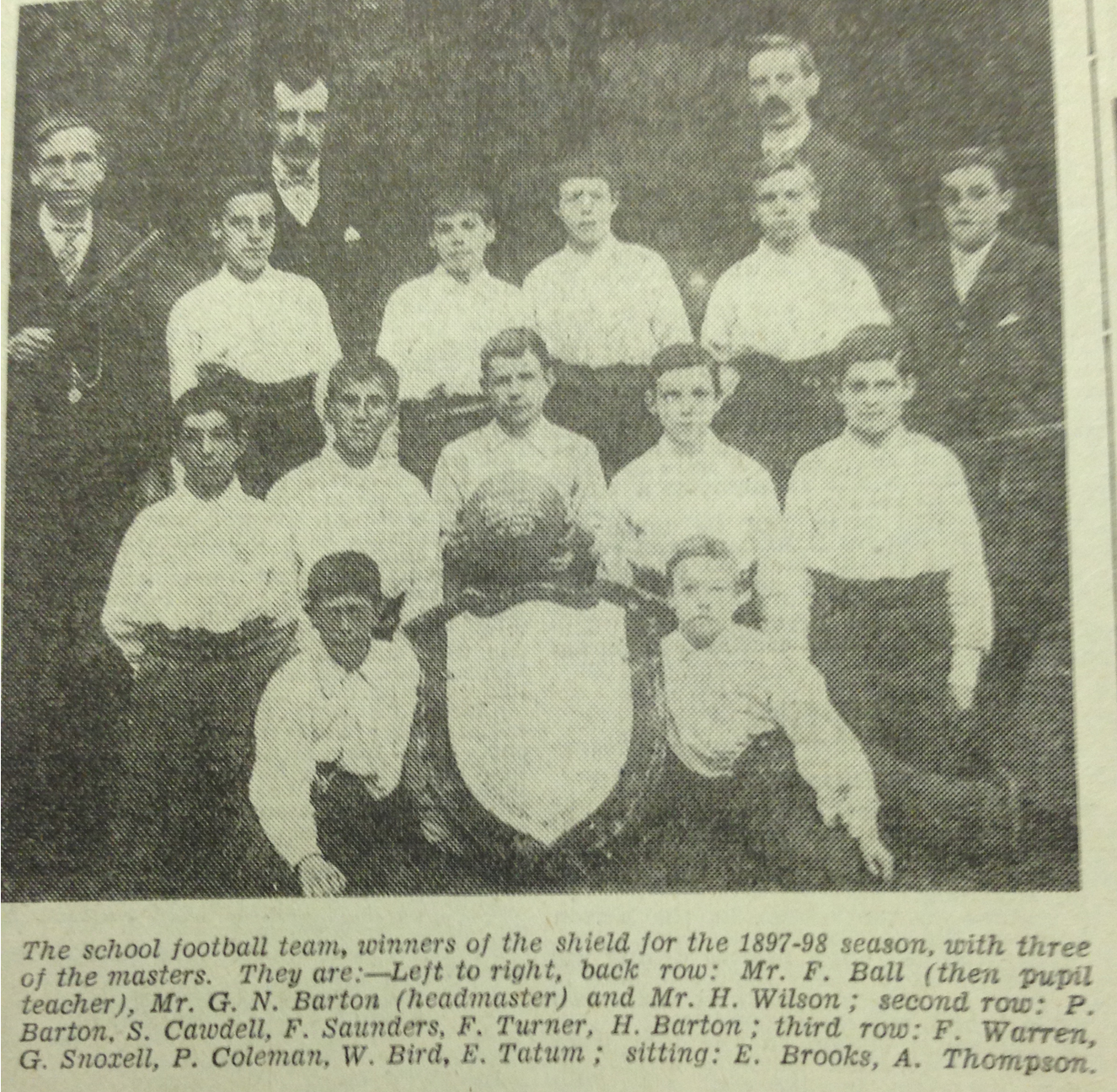 St. Matthews School Team 1897:98