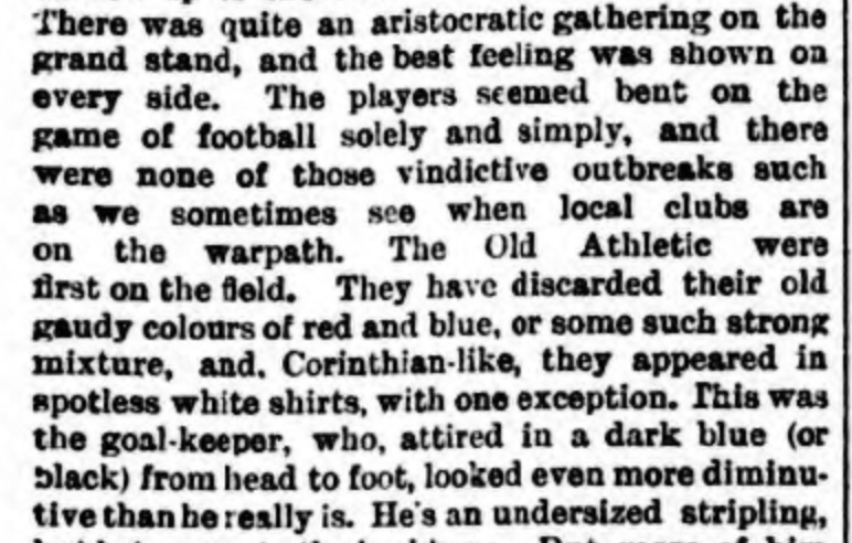 Athletic News 18th October 1887 WBA v Wednesbury in the 1st round of the FA Cup