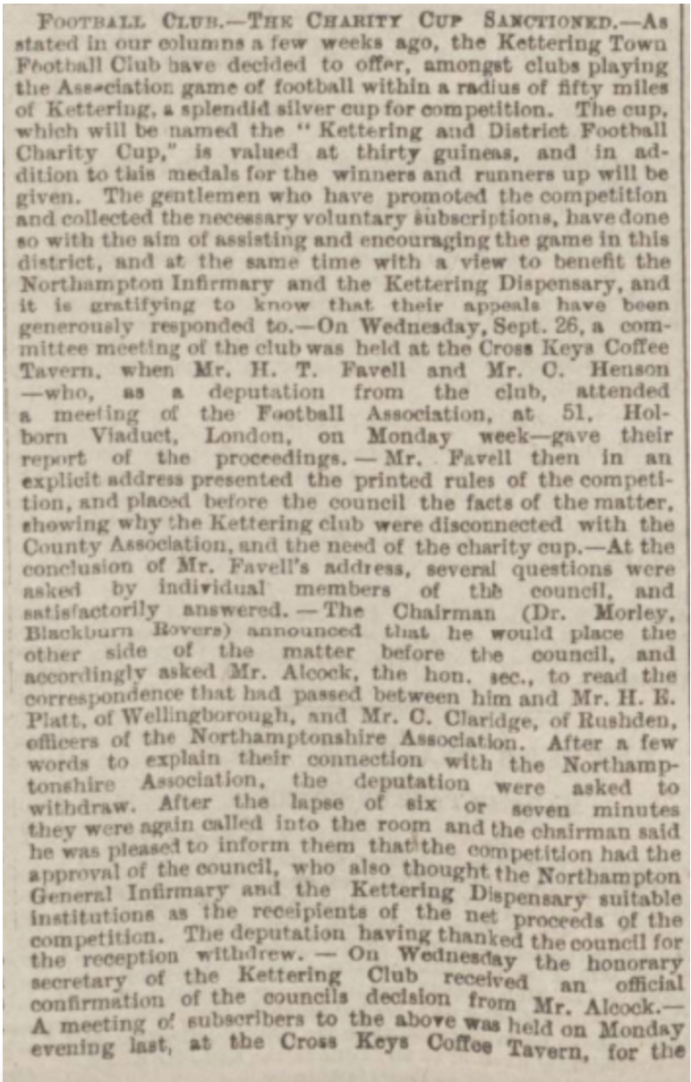Northampton Mercury 6th October 1888