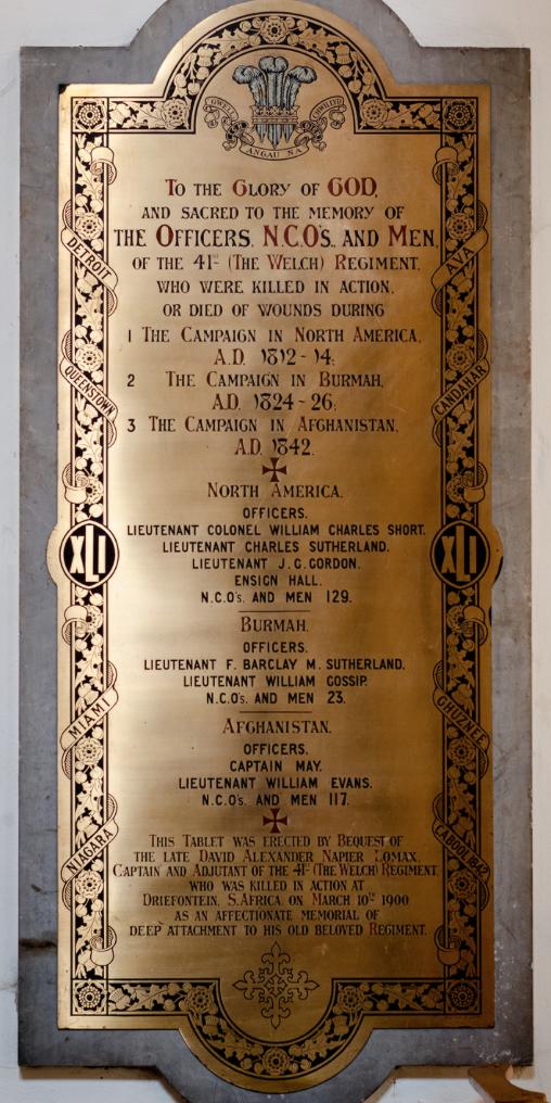 DAN Lomax Llandaff Memorial