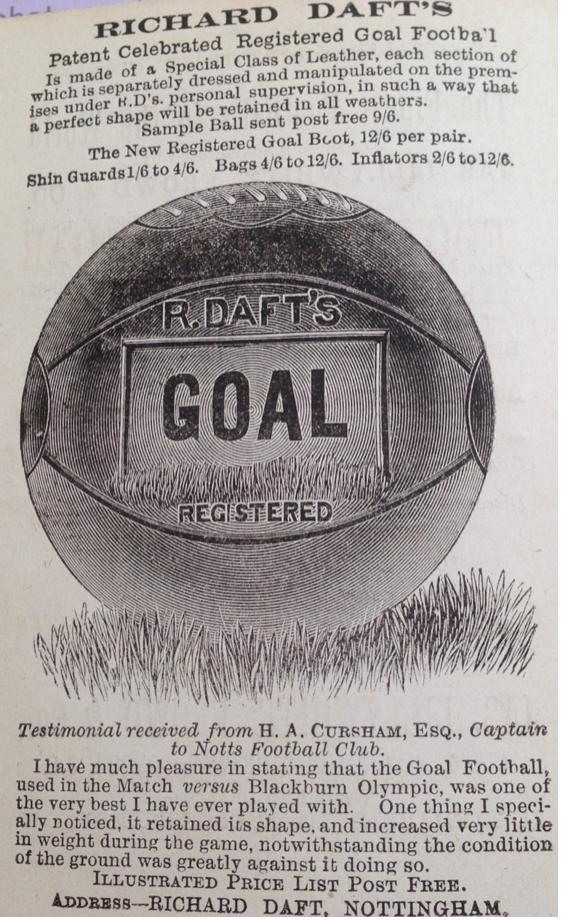 Richard Daft's ball advert