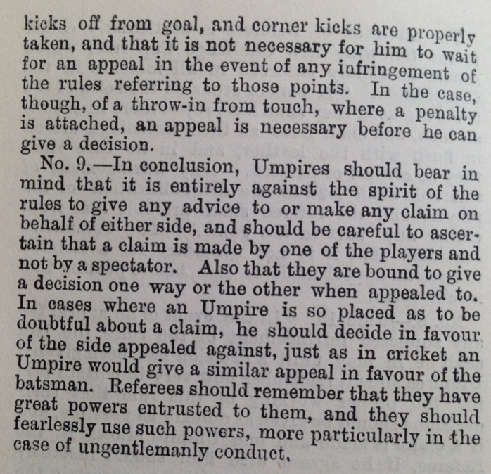 Rules for umpires and refs 4