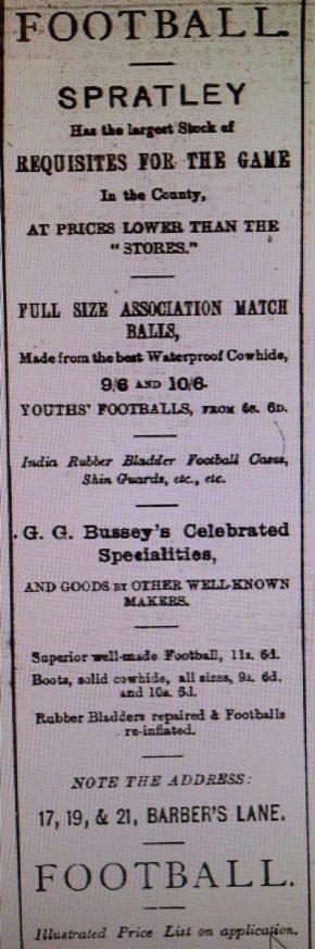Spratley's advert