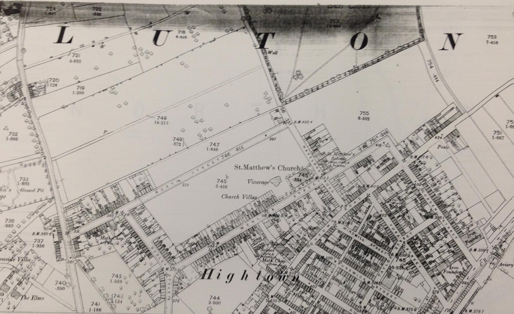 Bell's Close, Luton 1880