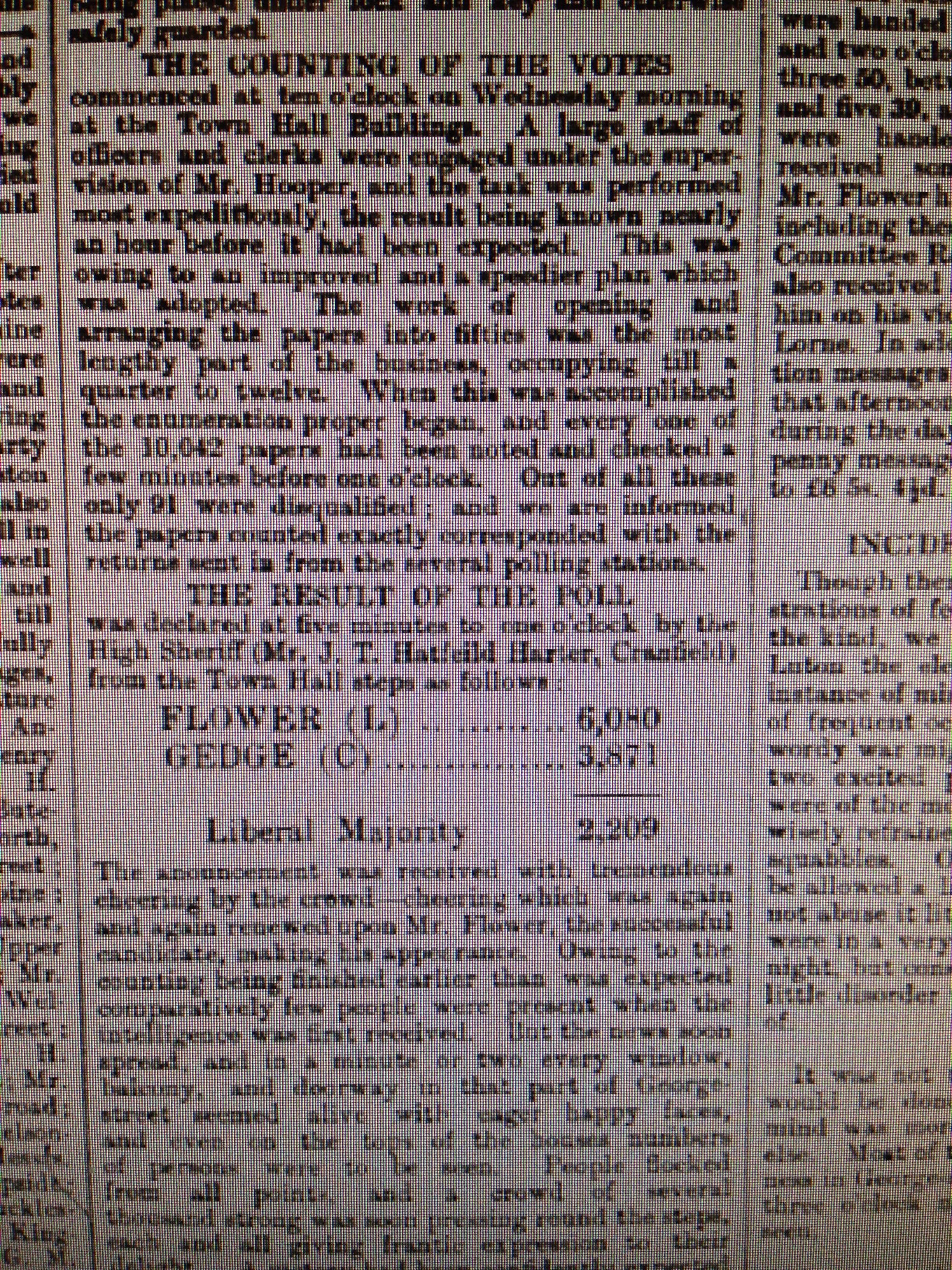 Luton Reporter 5/12/1885