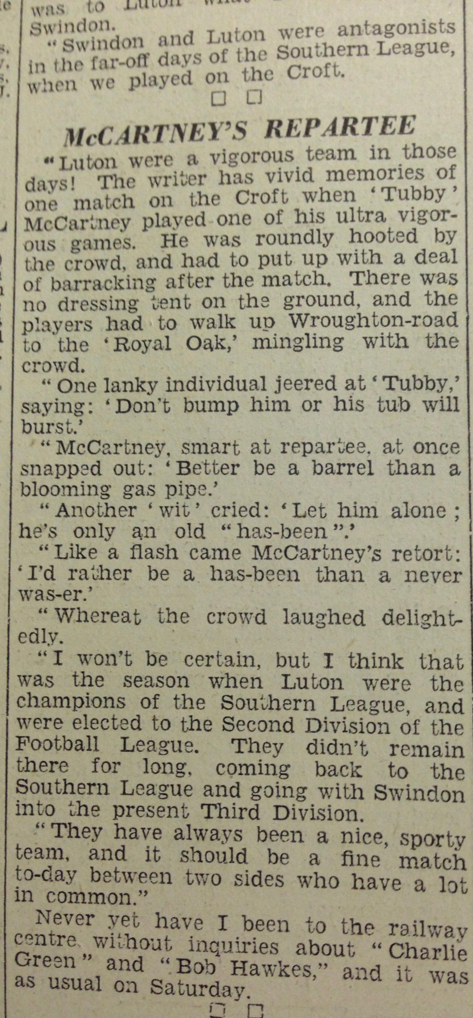 Luton News 21st February 1935