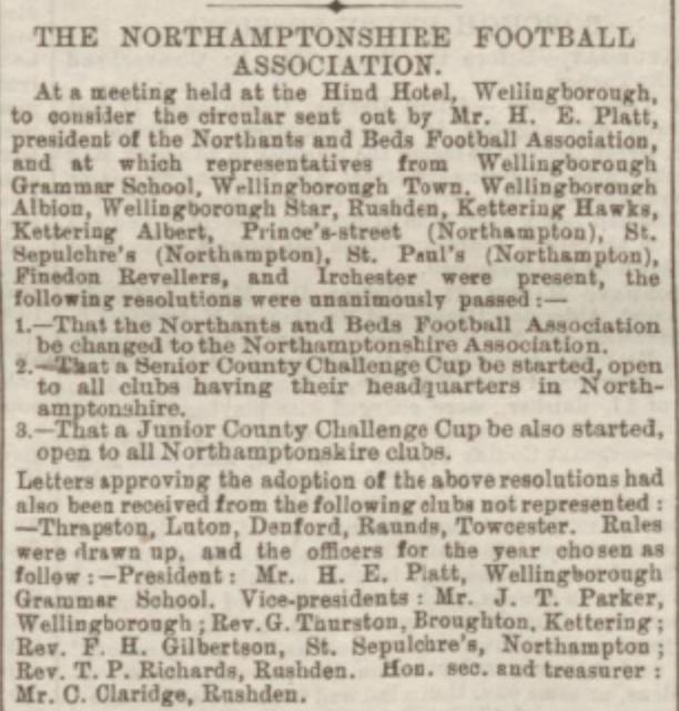 Northampton Mercury 26th March 1887