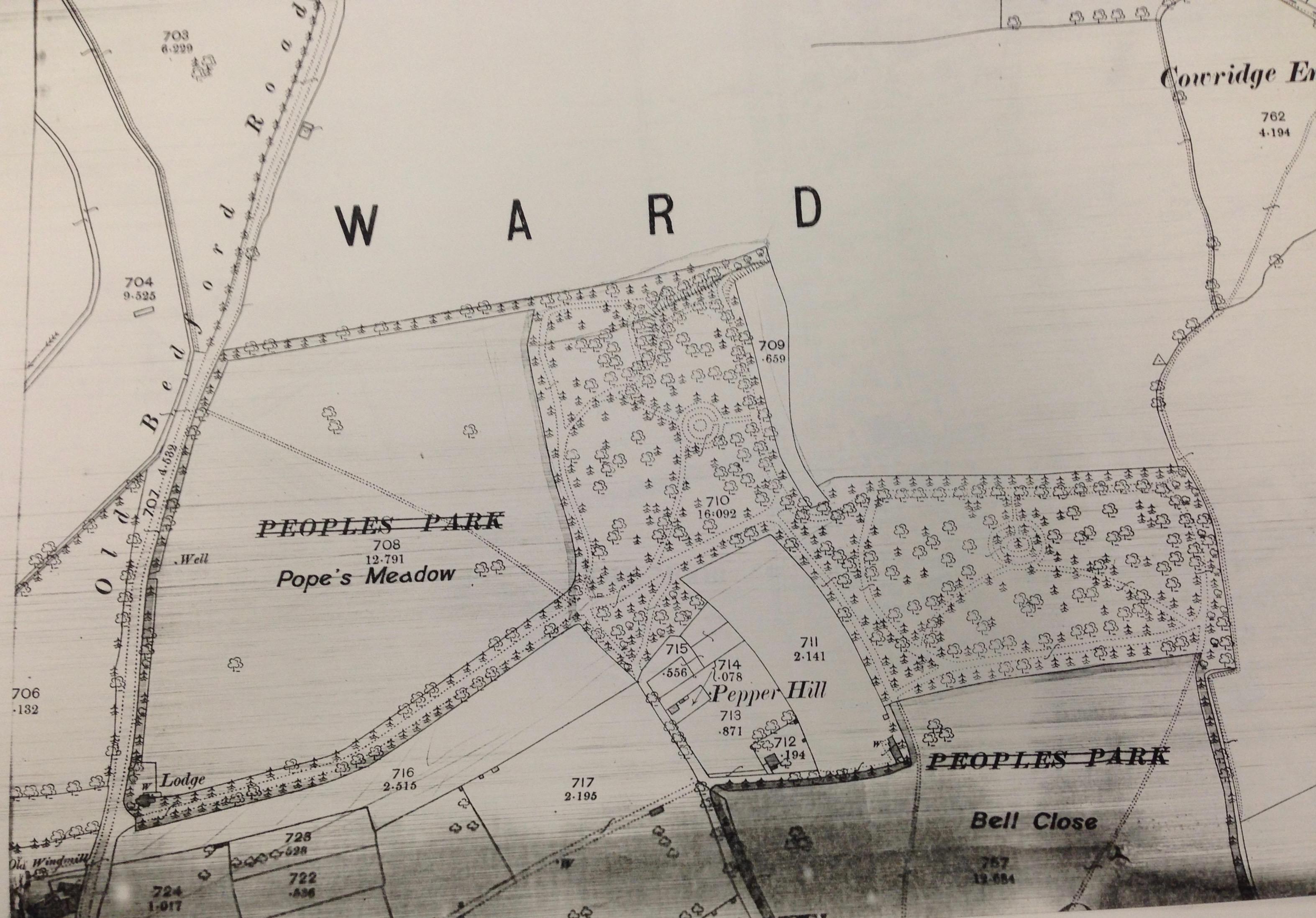 Pope's Meadow, Luton 1880