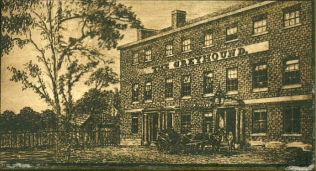 The Greyhound Hotel Dulwich, about 1750