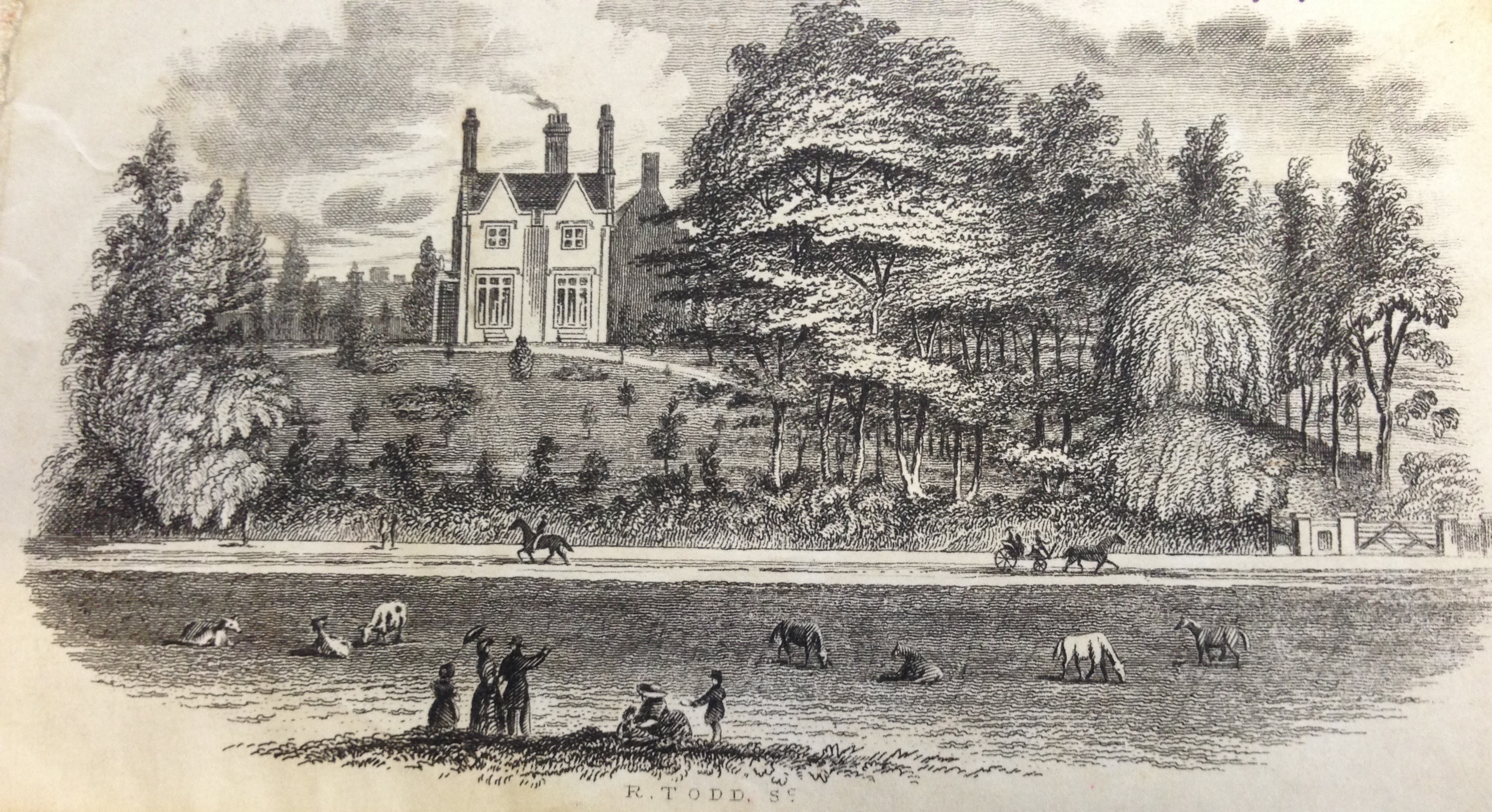 Villa School, New Bedford Road. Taken from the Moor circa 1865