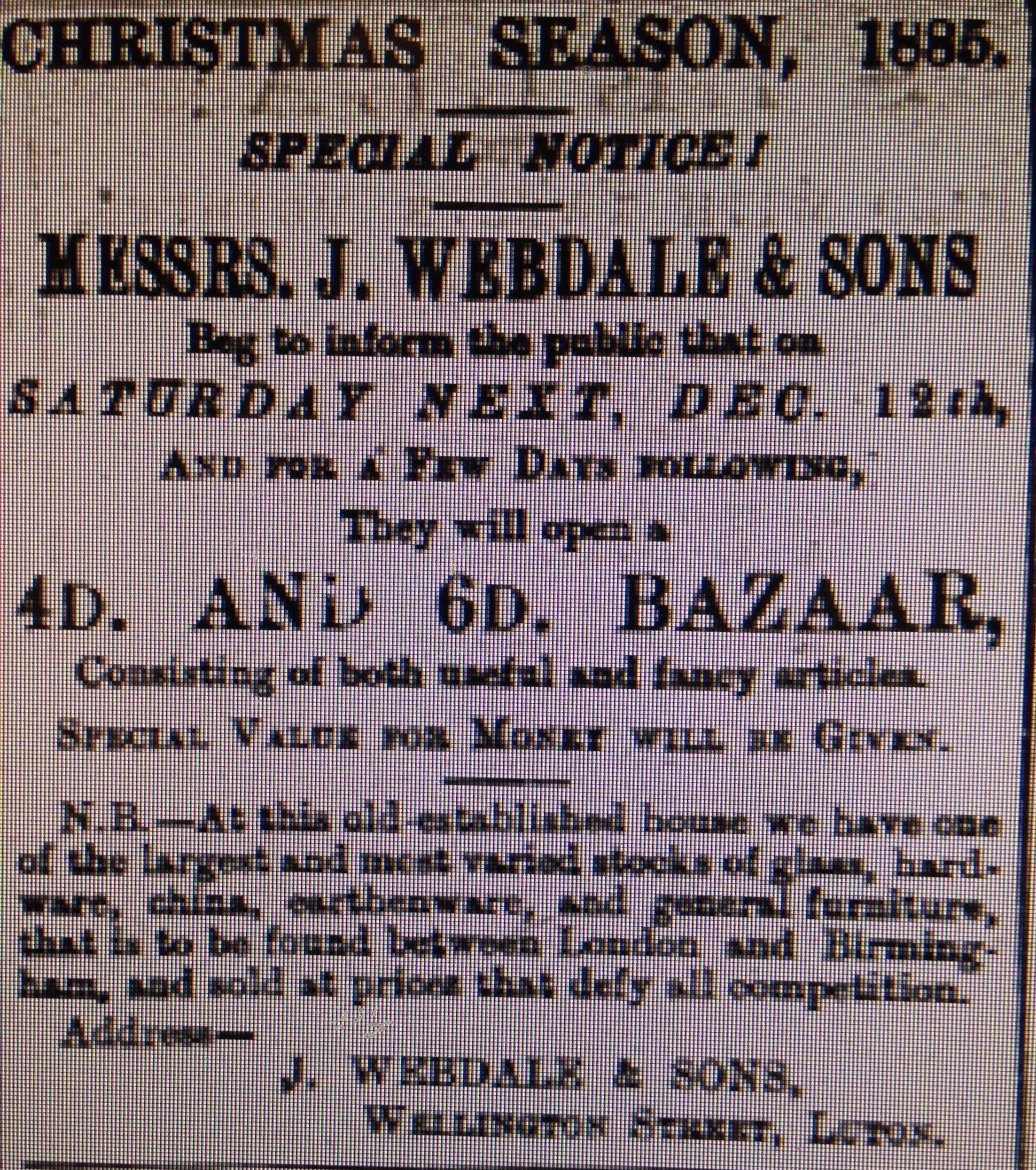 Luton Reporter 19/12/1885