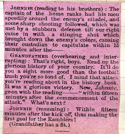 An 1893 newspaper football joke