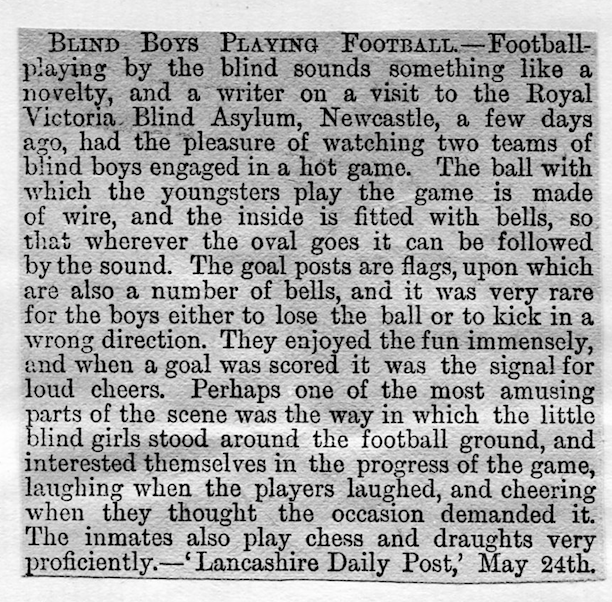 Blind football 1890