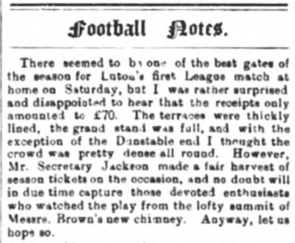 Luton Times 17th September 1897
