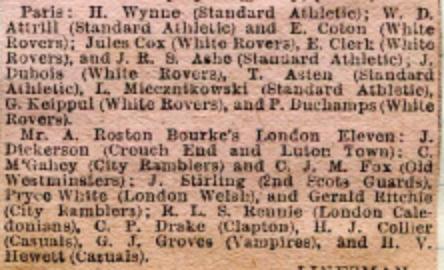 Rostron Bourke v Paris teams