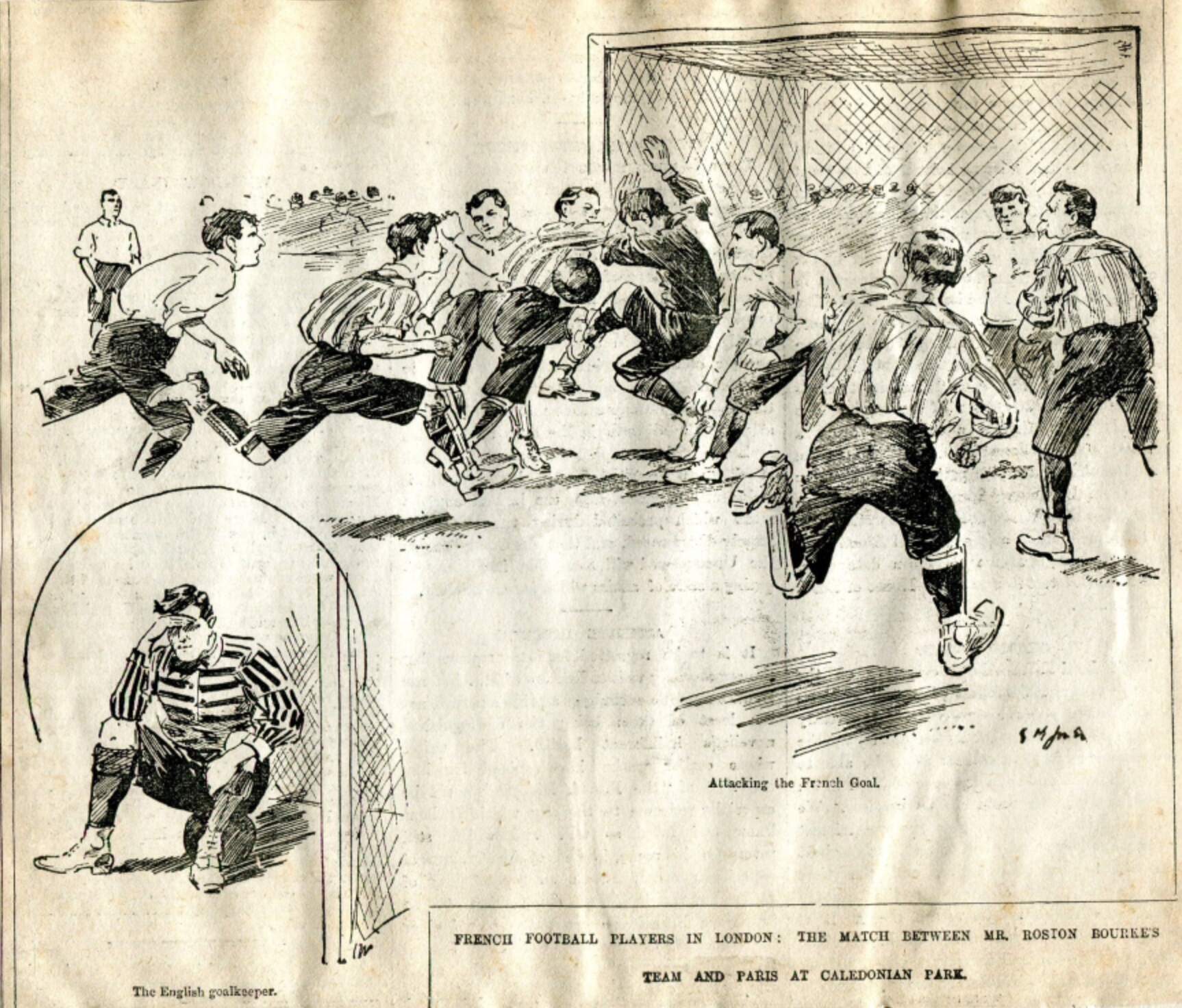 Rostron Bourke's 11 v French 11 1895