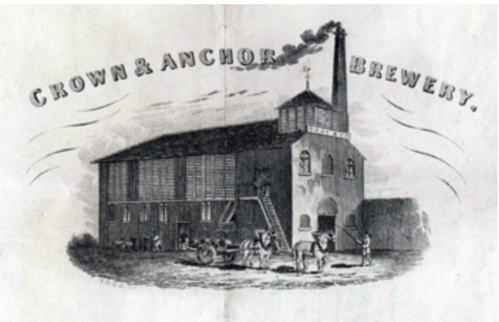 Crown and Anchor Brewery 1849