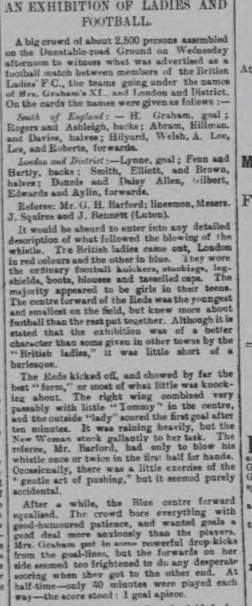 Luton Times 22:11:95 match report 1