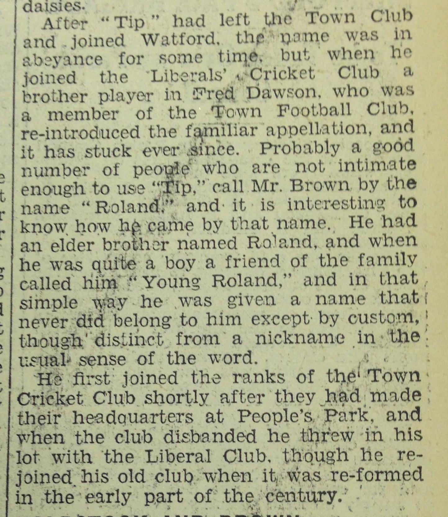 Tip 2 28th June 1934