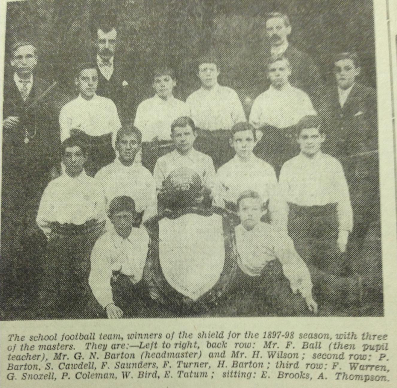 St. Matthews School Team 1897:98