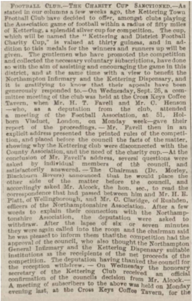 Northampton Mercury 6th October 1888