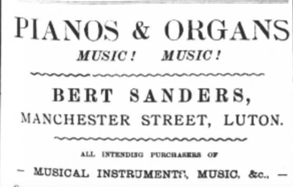 Bert Sanders advert