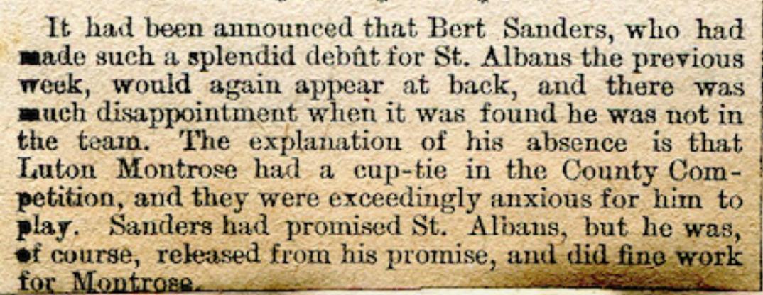 Bert Sanders plays for St. Albans