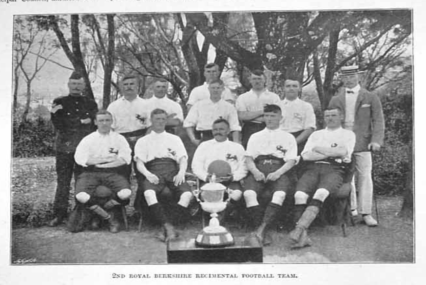 28:1:1899 Illustrated Sporting and Dramatic News - winners of the Frontier F.A. Charity Cup In South Africa