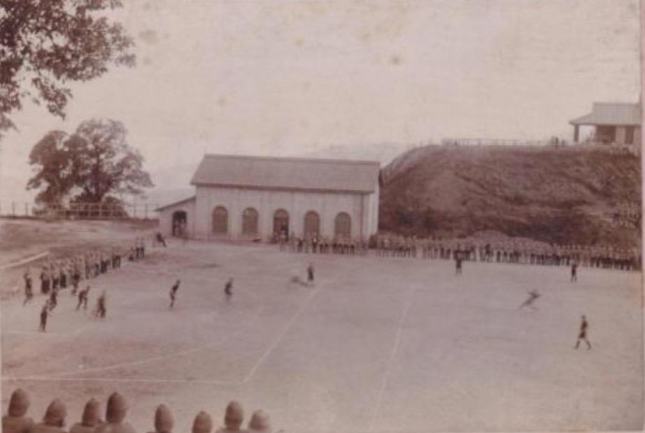 Football match during the Boer War 1899-1902